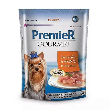 Ração Úmida Premier Gourmet Para Cães Sabor Salmão E Arroz Integral 100g