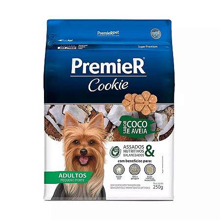 Biscoito Premier Cookie Para Cães Adultos De Pequeno Porte Sabor Coco E Aveia 250g