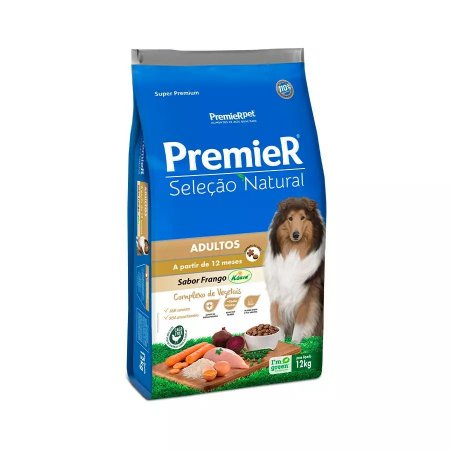 Premier Seleção Natural para Cães Adultos Frango Korin 12kg