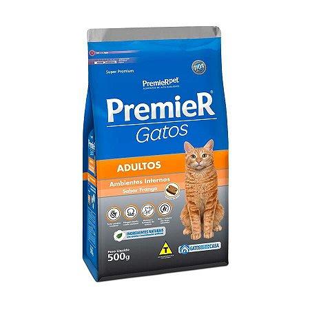 Ração Premier Amb Int Para Gatos Adultos Sabor Frango 500g