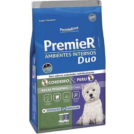 Ração Premier Duo Ambientes Internos Para Cães Adultos De Raças Pequenas Sabor Cordeiro E Peru 2,5 Kg