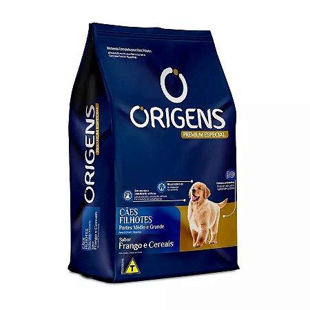 Ração Origens Para Cães Filhotes De Médio E Grande Porte Sabor Frango 3kg