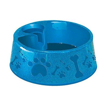 Bebedouro  Plástico Para Cães Paris Furacao Pet N2 - 700 Ml (Azul)