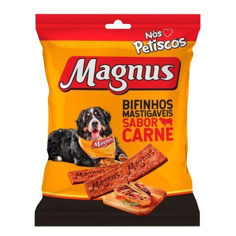 Bifinho Magnus Mastigáveis Sabor Carne Para Cães 60g