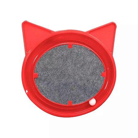 Brinquedo Arranhador Relax Pop Furacão Pet Para Gatos (Vermelho)