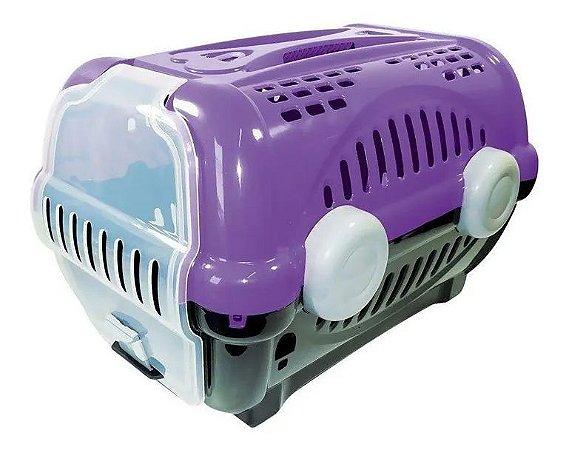 Caixa De Transporte Luxo Furacão Pet Para Cães E Gatos Lilas Nº 1