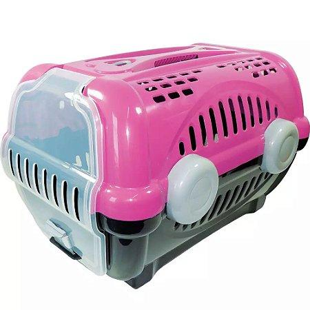 Caixa De Transporte Luxo Furacão Pet Para Cães E Gatos Rosa Nº 2