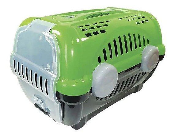 Caixa De Transporte Luxo Furacão Pet Para Cães E Gatos Verde Nº 3
