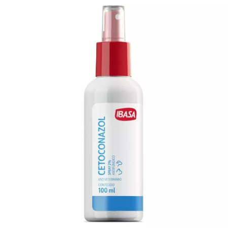 Cetoconazol Spray Ibasa 2% 100ml Para Cães