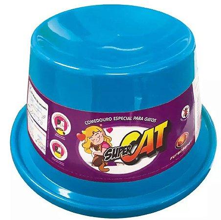 Comedouro Furacão Pet Super Cat Azul Para Gatos 200ml