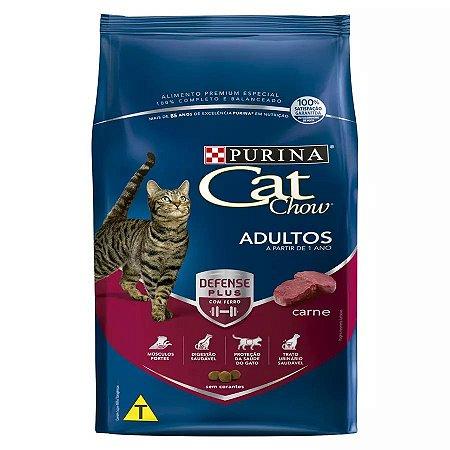 Ração Nestlé Purina Cat Chow Para Gatos Adultos Sabor Carne 3kg