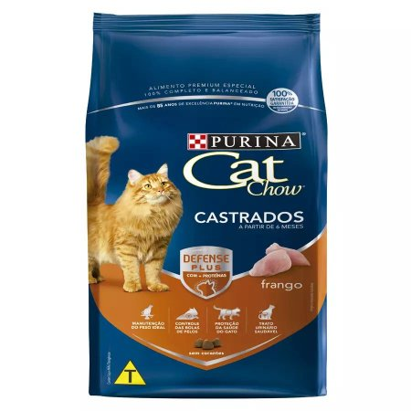 Ração Nestlé Purina Cat Chow Para Gatos Castrados Sabor Frango 1kg