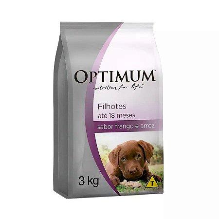 Ração Optimum Para Cães Filhotes De Raças Pequenas Sabor Frango E Arroz 3kg