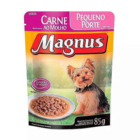 Ração Úmida Magnus Sachê Para Cães De Pequeno Porte Adultos Sabor Carne Ao Molho - 85g