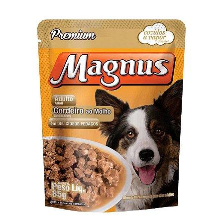 Ração Úmida Magnus Sachê Para Cães Sabor Cordeiro Ao Molho - 85g