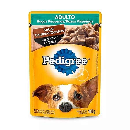 Ração Úmida Pedigree Sachê Vital Pro Para Cães Adultos De Raças Pequenas Sabor Cordeiro Ao Molho - 100g