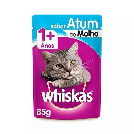 Ração Úmida Whiskas Sachê Para Gatos Adultos Sabor Atum - 85g