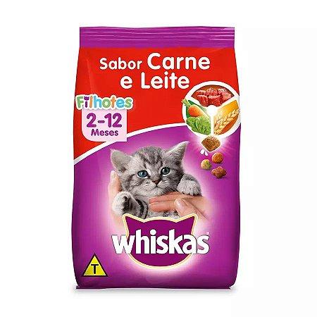 Ração Whiskas Para Gatos Filhotes Sabor Carne E Leite 3kg