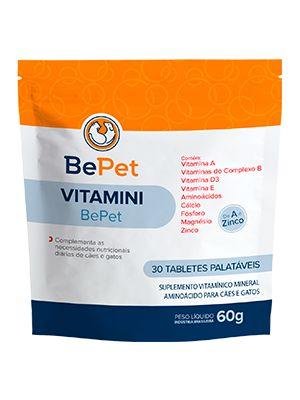 Suplemento Bepet Vitamini 60g - 30 Tabletes