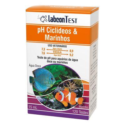 Teste De Ph Labcon Ciclídeos Africanos E Marinhos 15ml