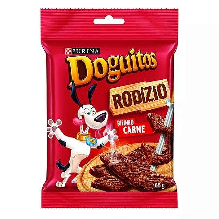 Petisco Doguitos Rodízio para Cães Adultos e Filhotes Sabor Carne - 65g