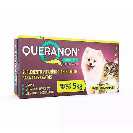 Suplemento Vitamínico Queranon Small Size para Cães e Gatos 30 Un Palatáveis