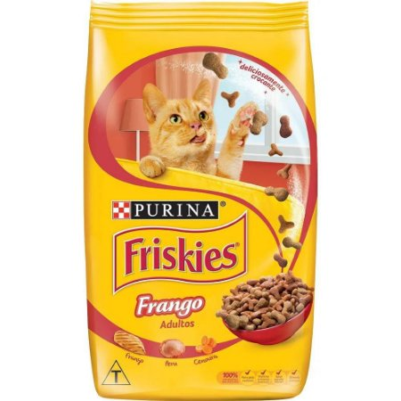 Ração para Gatos Friskies Delícias Galinha Caipira, Carne E Peru Adultos 1kg
