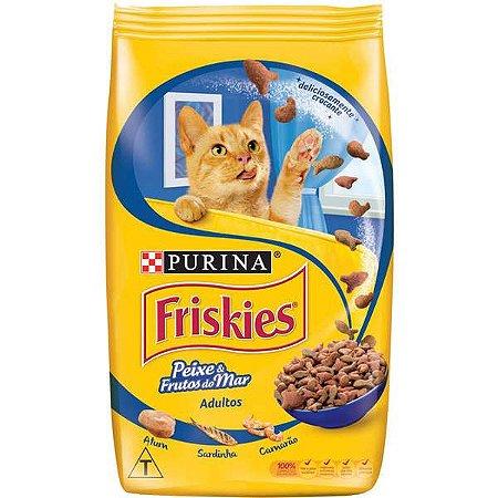 Ração Para Gatos Adultos Friskies Peixes e Frutos do Mar 1kg