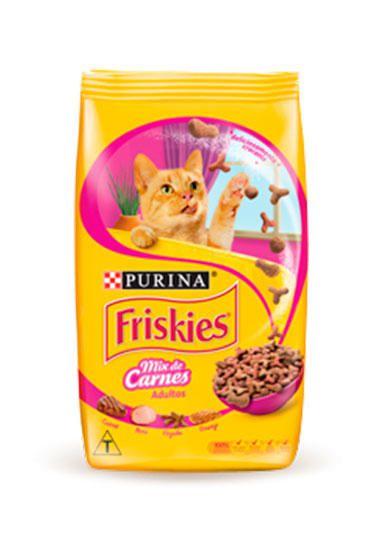 Ração Seca Nestlé Purina Friskies Mix de Carnes para Gatos Adultos 1kg