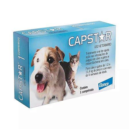 Antipulgas Elanco Capstar 11mg Para Cães E Gatos De Até 11kg C/1 Un
