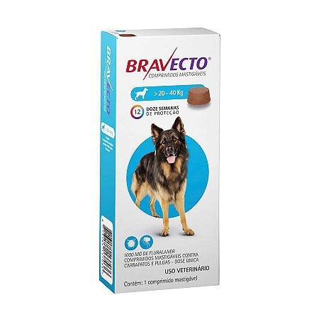 Antipulgas e Carrapatos Bravecto MSD para Cães de 20Kg a 40Kg