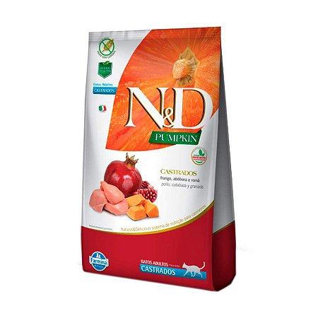 Ração Pumpkin N&D para Gatos Adultos Castrados sabor Frango 7,5KG