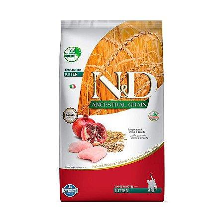 Ração Farmina N&D Low Grain para Gatos Filhotes Sabor Frango e Romã 400g