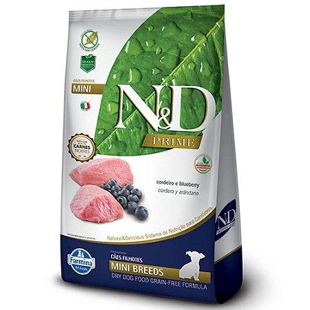 Ração Farmina N&D Prime Cordeiro e Blueberry Cães Filhotes Raças Pequenas 800g