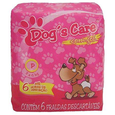 Fralda Higiênica Dogs Care Cães Fêmeas - 6 Unidades G