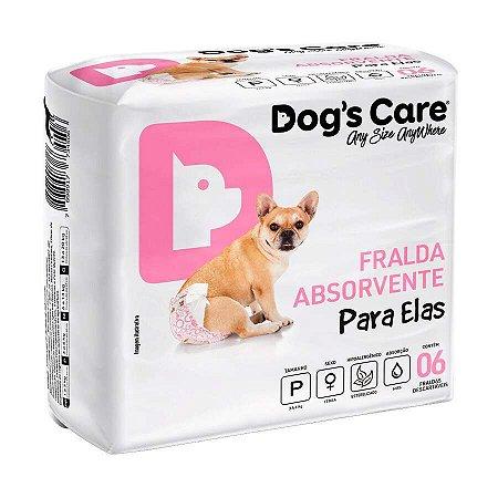 Fralda Higiênica Dogs Care Cães Fêmeas - 6 Unidades P