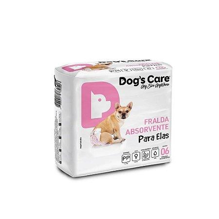 Fralda Higiênica Dogs Care Cães Fêmeas - 6 Unidades PP