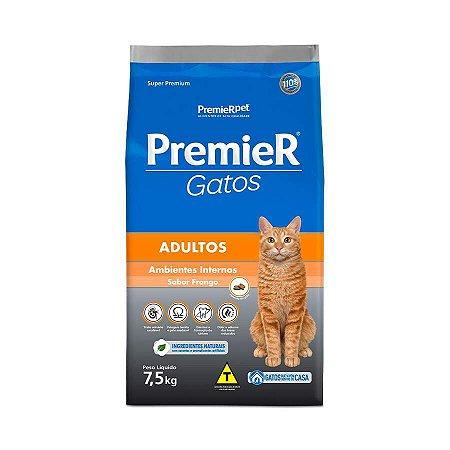 Ração Premier Ambientes Internos para Gatos Adultos Sabor Frango 7,5kg