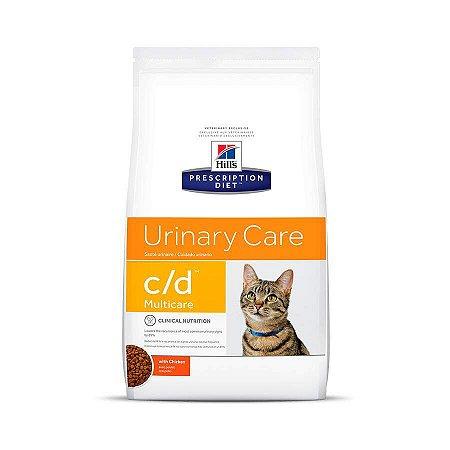 Ração Hills Prescription Diet C/D Multicare Cuidado Urinário Para Gatos Adultos 1,8kg