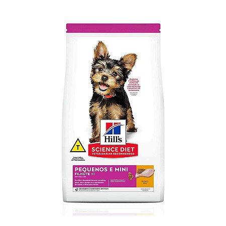 Ração Hills para Cães Filhotes de Mini e Pequeno Porte Sabor Frango 2,4kg