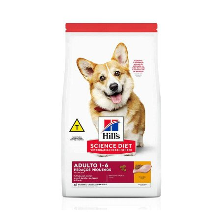 Ração Hills Science Diet Pedaços Pequenos para Cães Adultos de Pequeno Porte Sabor Frango 2,4kg