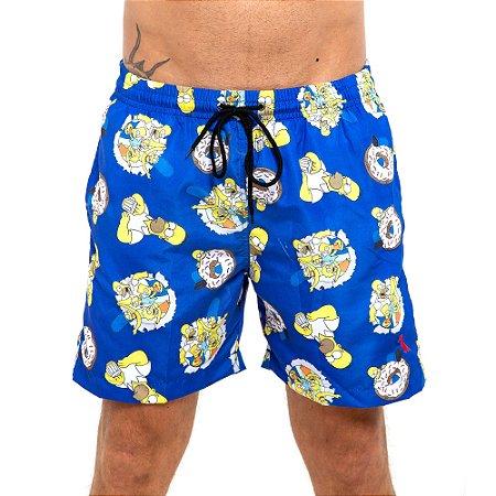 Shorts Praia Reserva azul Simpsons