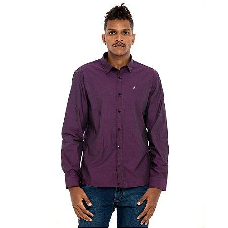 Camisa Calvin Klein roxa
