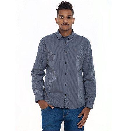 Camisa Ellus cinza listrada