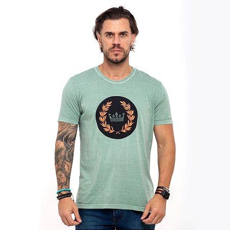 Camiseta Osklen verde logo redondo