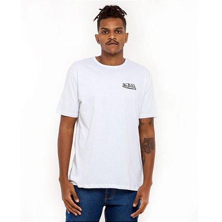 Camiseta Von Dutch Branca logo mini