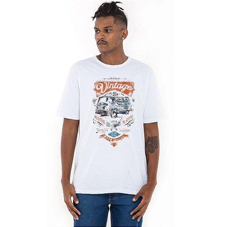 Camiseta Von Dutch branca vintage