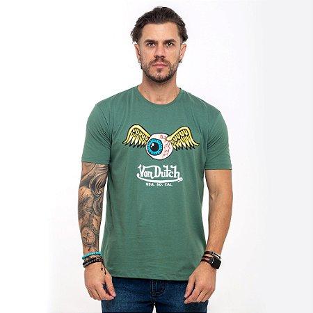 Camiseta Von Dutch Usa Eye logo verde