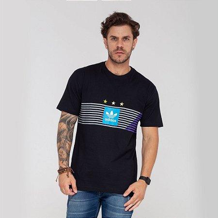 Camiseta Adidas 3 Stars preta