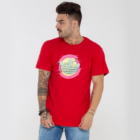 Camiseta Adidas logo vermelha